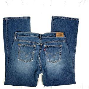 Levi's 515 medium wash stretch boot cut jeans 10 S